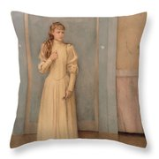 Posthumous Portrait Of Marguerite Landuyt Throw Pillow