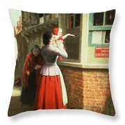 Posting A Letter, 1879 Throw Pillow