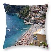 Postitano Beach Throw Pillow