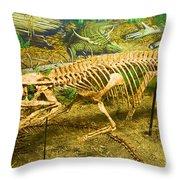 Postosuchus Fossil Throw Pillow
