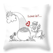 Pot Of Gold Valentines  Throw Pillow