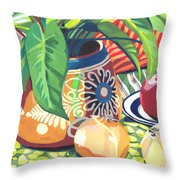 Pot With Onions Throw Pillow