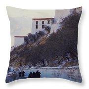 Potala Palace 2 Throw Pillow