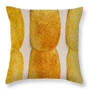 Potato Chip Rows 1 Throw Pillow