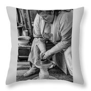 Potters Wheel V1 Throw Pillow