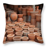 pottery in Madagascar Throw Pillow
