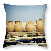 Pottery Market Throw Pillow