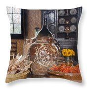 Pottery Throw Pillow by Patricia Hofmeester