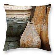 Pottery Still Life Throw Pillow