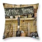 Potting Thyme Throw Pillow