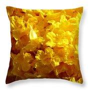 Poui Flowers Throw Pillow