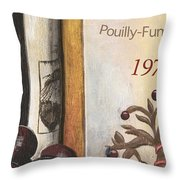 Pouilly Fume 1975 Throw Pillow by Debbie DeWitt