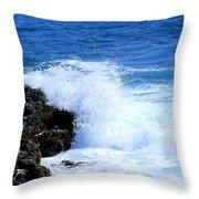 Pounding The Reef Throw Pillow