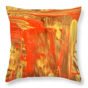 Pouring Red Throw Pillow