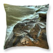 Pouring Through The New River Throw Pillow