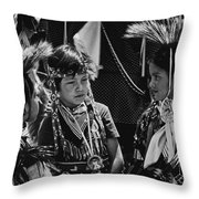 Pow-wow Buddies Throw Pillow