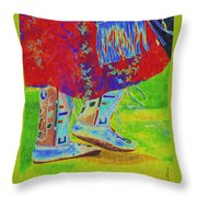 Pow Wow Dancing Throw Pillow