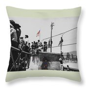 Pow Wow Days July 4th Rodeo Navajos Flagstaff Arizona 1969-2009  Throw Pillow