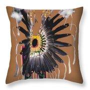 Pow Wow Regalia - Orange Throw Pillow