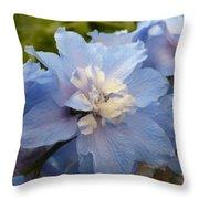 Powder Blue Beauty Throw Pillow