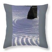 Powder In Zen One Throw Pillow by Feile Case