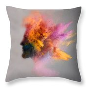 Powder Keg Throw Pillow