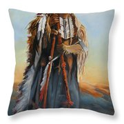 Powderface Throw Pillow