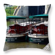 Powell Boats Throw Pillow