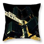Powell Street Throw Pillow