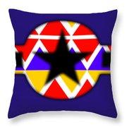 Power Black Throw Pillow