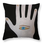 Power Chi Hand Throw Pillow