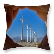 Power In The Hand Throw Pillow