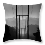 Power In The Morning Mist Throw Pillow