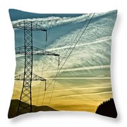 Power In The Sky Throw Pillow