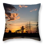 Power In The Sunset Throw Pillow