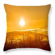 Power Lines And Trees In The Frozen Throw Pillow