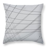 Power Lines Fill The Sky Throw Pillow