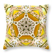 Power Of Gold Throw Pillow