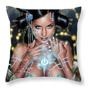 Power Throw Pillow by Pete Tapang