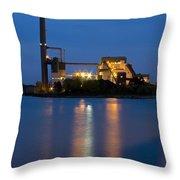 Power Plant Throw Pillow by Adam Romanowicz