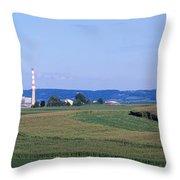 Power Plant Energy Throw Pillow