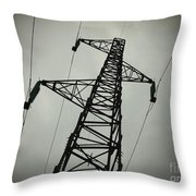 Power Pole Throw Pillow