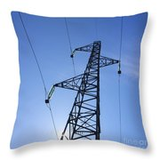 Power Pylon Throw Pillow by Bernard Jaubert