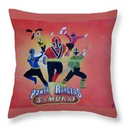 Power Rangers Samurai Throw Pillow