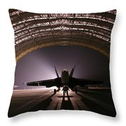 Power Rests At Night Throw Pillow
