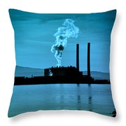 Power Station Silhouette Throw Pillow by Craig B