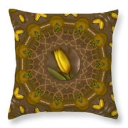 Power To The Tulips Pop Art Throw Pillow