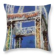 Power Tower Cedar Point Throw Pillow