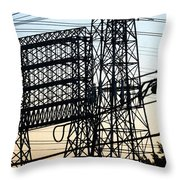 Power Tower Lines Throw Pillow