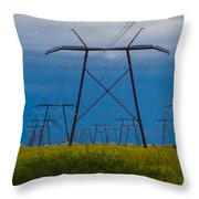 Power Towers Throw Pillow
